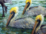 Four Pelicans SOLD-Woodson Museum permanent collection