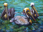 Three  Pelicans  SOLD