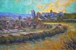 "East to West (Cincinnati. Ohio)40""x60""Exhibited: Evansville Museum of Art"